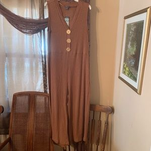 NWT Primark brown sleeveless romper 16